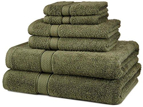 NEW 6 Piece 100% Egyptian Cotton 725 Gram Bath Towel Towels Set(Moss)