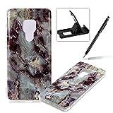 Soft Case for Huawei Mate 20,Anti Scratch Cover for Huawei Mate 20,Herzzer Stylish Pretty Gray Marble Stone Pattern TPU Bumper Flexible Shock Scratch Resist Rubber Case