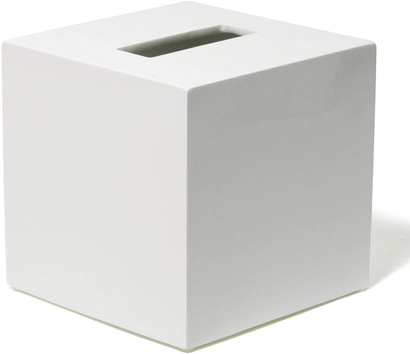 Jonathan Adler Lacquer Bath Tissue Box Cover, One Size, White