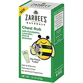Zarbee's Naturals Chest Rub with Eucalyptus, Lavender, Pine, Beeswax, 1.5 Ounce