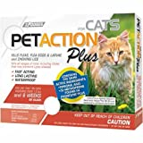 Pet Action Plus Flea & Tick Treatment for Cats Over 1.5 lbs - 3 Month Supply