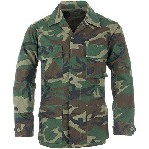 Teesar Men's BDU Shirt Ripstop Woodland size XXL ()