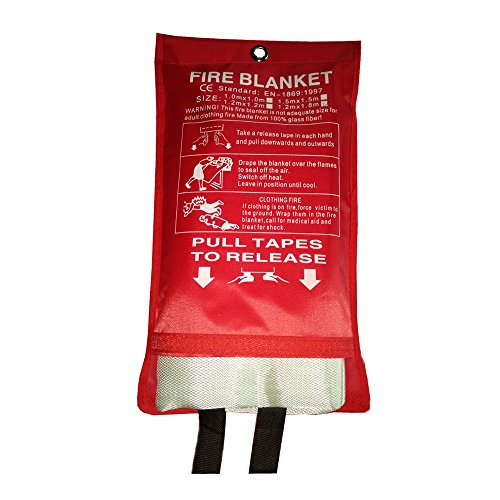 New Boss Fire Blanket, Fiberglass Protective Blanket, Retardant Emergency Survival Safety Cover for Kitchen, Grill, Fireplace, Camping,Car