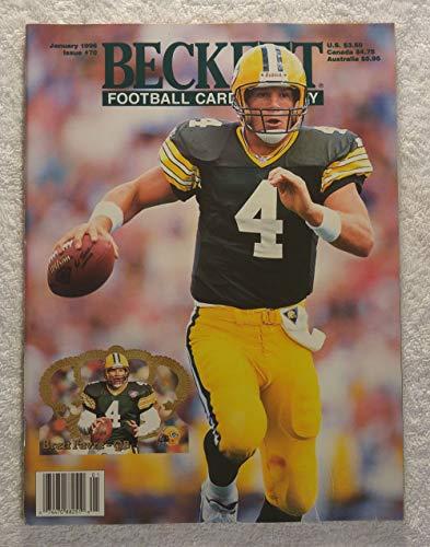 Brett Favre - Green Bay Packers - Beckett Football Card Monthly Magazine - #70 - January 1996 - Back Cover: Errict Rhett (Tampa Bay Buccaneers) Beckett Football Magazine Cover