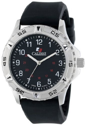 (Calibre Men's SC-4S1-04-007R Sea Wolf Round Stainless Steel Unidirectional Rotating Bezel Luminous Watch)