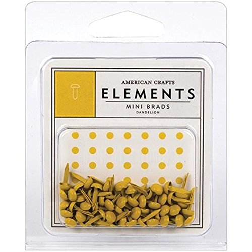 - American Crafts Elements Mini Brads, Dandelion