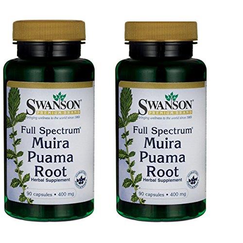 Root Muira Puama (Swanson Full-Spectrum Muira Puama Root 400 Milligrams 90 Capsules 2 Pack)