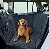 Dog Car Seat Covers,Pet Seat Cover for Back Seat of Cars/Trucks/SUV, Waterproof Pet Hammock Seat Cover for Dogs with Mess Window, Side Flaps and Dog Seat Belt Anti-Scratch Nonslip Machine Washable