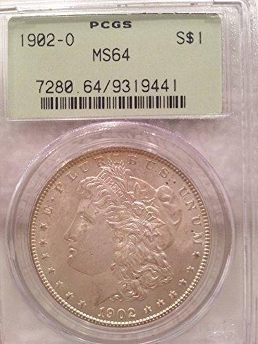 1902 O MORGAN SILVER DOLLAR $1 MS64 PCGS