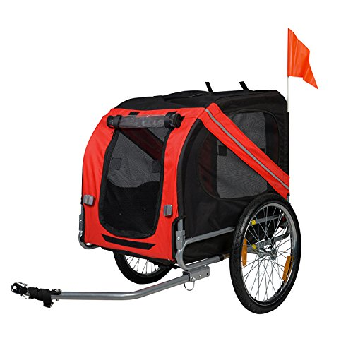 BuyHive Pet Bike Trailer Foldable Dog Cat Bicycle Trailer Jogger Shopping Wagon from BuyHive