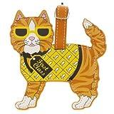 LittleGifts Cat Orange Luggage Tag, My Pet Supplies