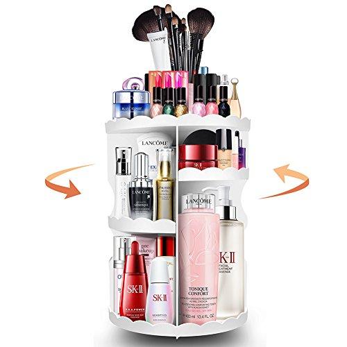 PlusMart Makeup Organizer, Cosmetic Organizer Adjustable,360