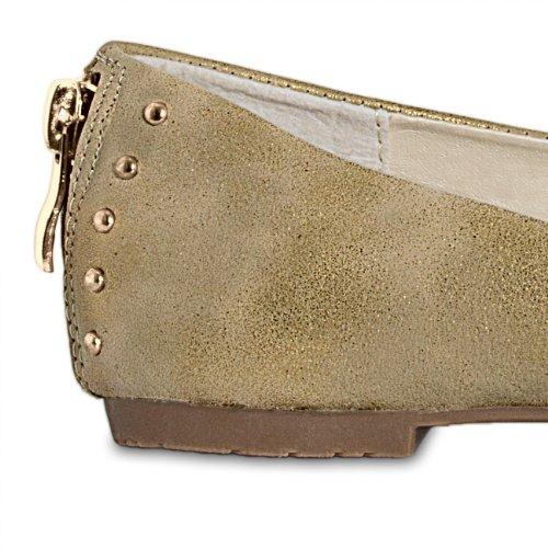 donna Accessoires CASPAR Ballerine Taschen Gold amp; H4HRa1wqx