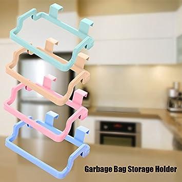 Calistouk suministros de cocina multifuncionales, armario para colgar toallas, bolsa de basura, para colgar paños detrás de la puerta, ...