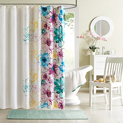 (Intelligent Design ID70-202 Olivia Shower Curtain 72x72 Blue)