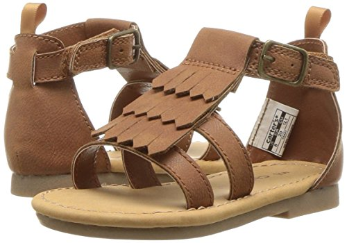 Carter's Girls' Chary Fashion Sandal, Brown, 9 M US Toddler by Carter's (Image #6)
