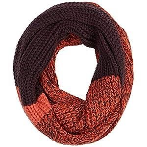 UNDER ZERO UO Women's Orange Purple Knit Snood Scarf
