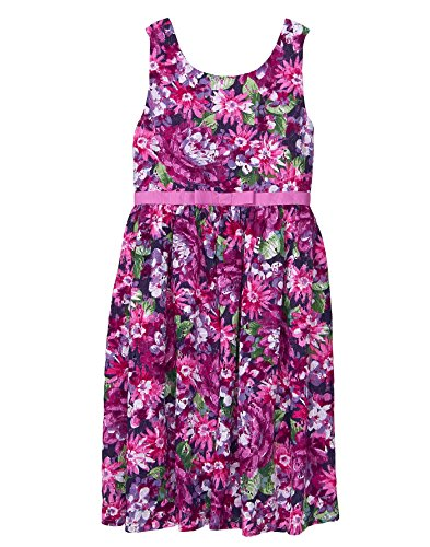 Gymboree Girls' Little Sleveless Wildflower Dress, Violet Blooms, 5