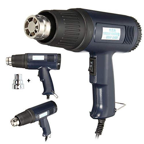 1500W 220V Heat Gun Shrink Wrapping Electric Hot Air Wrapping Thermal Heater Nozzle Heat Gun by Isguin