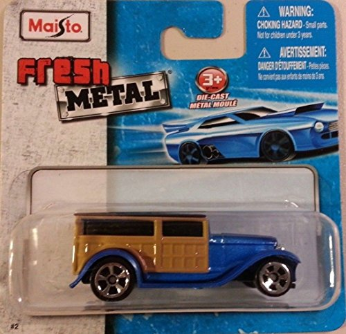 Panel Ford 1932 - Maisto Fresh Metal Die-Cast Vehicles ~ 1932 Ford Wood Panel Van Truck (Blue)
