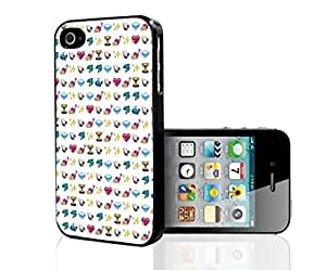 Cute Pink Girly Emoji Baclground Hard Snap on Phone Case (iPhone 4/4s)
