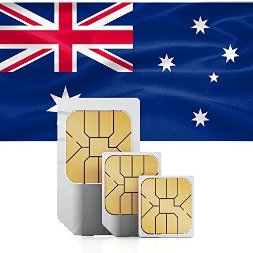 Australia & New Zealand 9GB Prepaid mobile internet Data SIM 52 Countries 30 Day Plan (3000 min free to The UK) by travsim