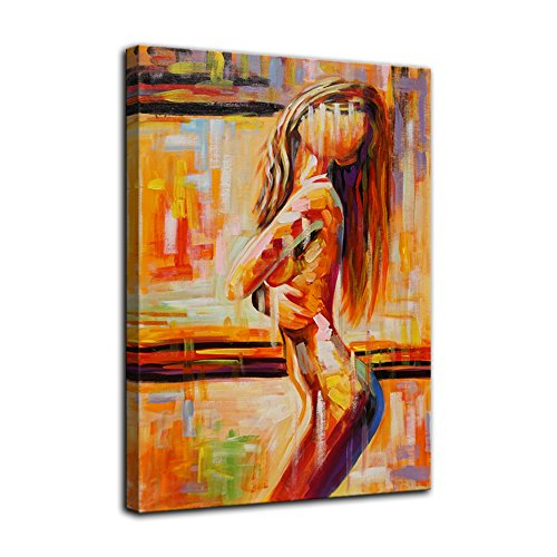 AMEMNY Colorful Abstract Sexy Woman Canvas Painting Wall Art Beauty Decorative Painting Watercolor Characters Corridor Mural Simple Backgrounds People Portraits Figures Paintings Ready to Hang