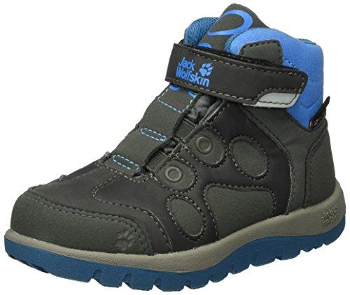 Jack Wolfskin Unisex-Kinder Providence Texapore Mid VC K Trekking-& Wanderstiefel, Grau (Grey/Blue), 34 EU