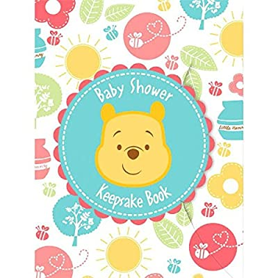"""Delightful Winnie the Pooh Keepsake Book Baby Shower Party Favour, 8"""" x 6"""".: Toys & Games"""