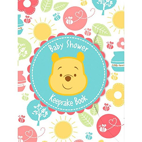 Delightful Winnie the Pooh Keepsake Book Baby Shower Party Favour, 8