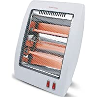 #1 Smart 800 Watt Quartz Heater Table Top Heat Portable & Adjustable Heat Royal - Safety Tipover Protection