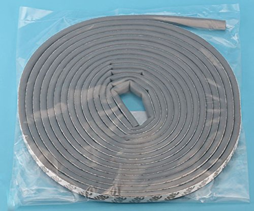 Weather Stripping for Doors and Windows,Silicone Rubber Multi-hole D Shaped Flexible Ageing-resistant Soundproof Collision Avoidance Weatherstrip 3M Self Adhesive Sealing Strip Tape (Gray)