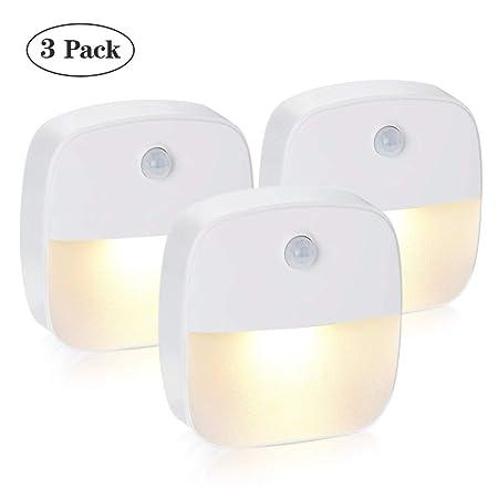solawill Nachtlicht mit Bewegungsmelderla 3 Stück LED Bewegungsmelder Licht Auto ON/OFF Nachtlicht Schrankbeleuchtung mit Haf