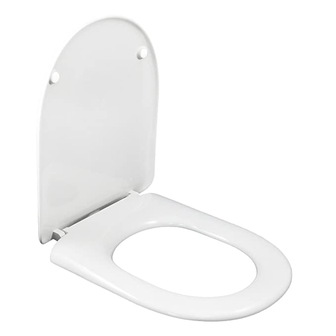 Groovy Wc Toilet Seat Compatible Du Shape Round Front Adjustable Removable Hinge Easy Clean Easy To Install Very Resistant 43 X 36 X 5 Cm Lamtechconsult Wood Chair Design Ideas Lamtechconsultcom