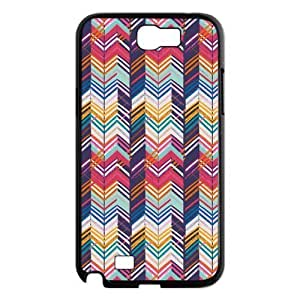 Godstore Custom New Style Colorful Chevron Pattern Cover Hard Plastic Samsung Galaxy Note 2 N7100 Case