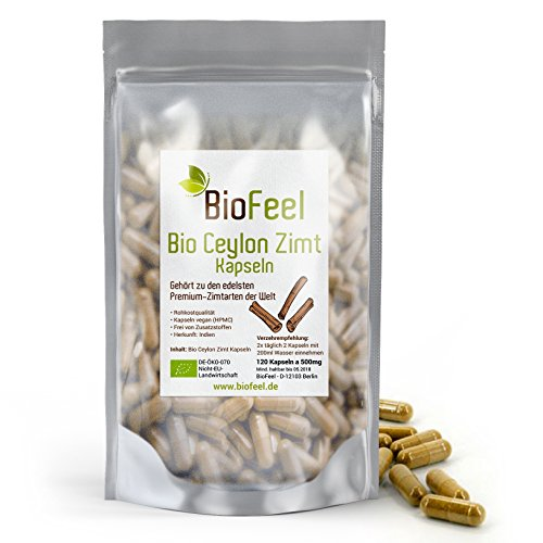 BioFeel - Bio Ceylon Zimt Kapseln, 120 Stk., 500mg