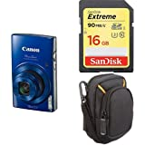 Canon PowerShot ELPH 190 Digital Camera w/ 10x Optical Zoom and Image Stabilization - Wi-Fi & NFC Enabled (Blue) + Free Accessory Bundle