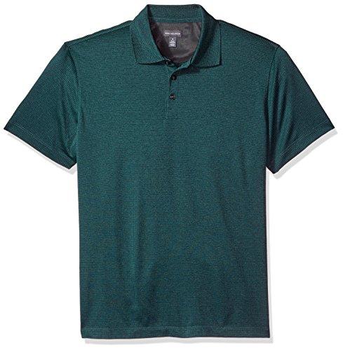 Van Heusen Mens Air Grid Short Sleeve Polo  Green Obi  2X Large