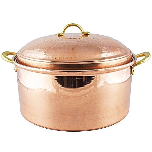 Copper Cookware 11.80 inches, 1.2 mm Thick Copper Pot, Pan, Casserole Dish, Pot, Copperware, Chef, Healthiest Cooking, Skillet, Saucepan, Wok, Kitchen Set, Healthy Casseroles