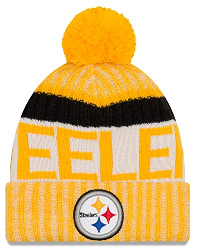 NFL Pittsburgh Steelers Adult Men Cold Weather Reverse Team Sport Knit Beanie,Osfa,Yellow