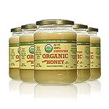 YS Organic Bee Farms CERTIFIED ORGANIC RAW HONEY 100% CERTIFIED ORGANIC HONEY Raw, Unprocessed, Unpasteurized - Kosher 32oz(pack of 5)