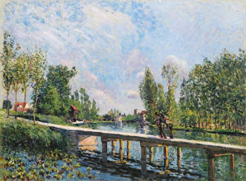 Alfred Sisley La Passerelle Tow Path on The Loing Canal 1886 Private Collection 30