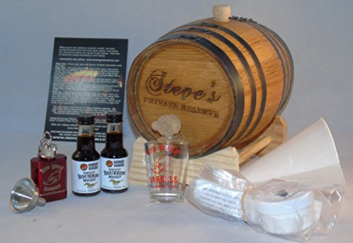 2 Liter Custom Engraved American White Oak Whiskey Flavoring Gift Set (Kentucky Bourbon) ()