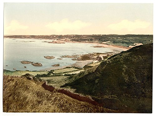 1890 Photo Guernsey, Rocquaine Bay, Channel Islands Location: Channel Islands, Guernsey