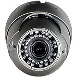 HD 1080P TVI Dome Camera Sinis 2MP Hybrid TVI/CVI / AHD/Analog 4 in 1 Turret, 2.8-12mm Varifocal Zoom Lens 36 IR LED, IP66 Waterproof Day/Night Vision CCTV Security Camera Grey- Switchable Output