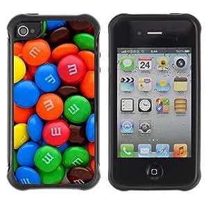 LASTONE PHONE CASE / Suave Silicona Caso Carcasa de Caucho Funda para Apple Iphone 4 / 4S / Candy Sweet Bright Colorful Blue Red Green