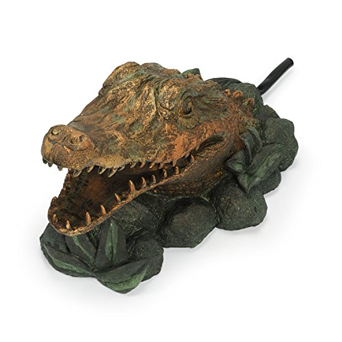 Aquascape Alligator Fountain Spitter for Pond, Container Water Gardens, and Water Features, Poly-Resin | 78208 by Aquascape (Image #1)