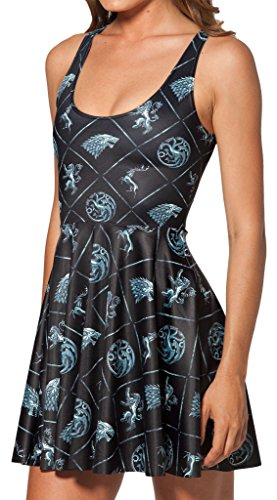 Thenice Damen Kleid Mehrfarbig mehrfarbig One size (für kleinere Personen) Tier FDOpnudI