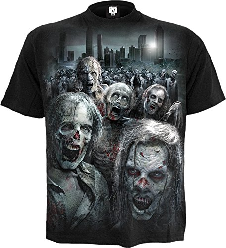 Spiral Direct X The Walking Dead Zombie Hoard T Shirt (Schwarz) - Small