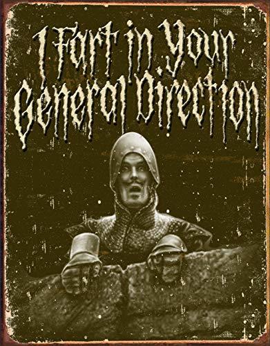 Desperate Enterprises Monty Python - I Fart in Your General Direction Tin Sign, 12.5